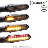 Intermitente LED + luz de freno compatible con Triumph Street Triple, Thunderbird America (certificado E, 2 unidades) (B21)