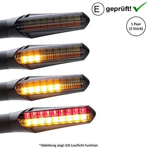 LED-knipperlicht + remlicht compatibel met Qingqi, CF-Moto, Herkules, IVA, JMStar scooter (getest / 2 stuks) (B21)