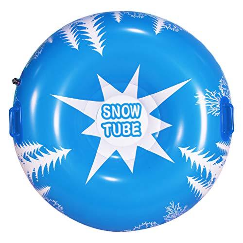 VOSAREA 51 Zoll Winterschneeschlauch mit 2 Höheren Griffen Aufblasbare Schneeschlitten für Kinder Erwachsene Hochleistungs-Schneespielzeug für Weihnachten Oudoor