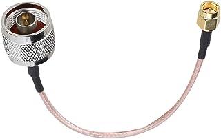 Bewinner Cable de conexión Sew, 1pcs 15 cm RG316 Militar, Cable de conexión SMA Macho a Tipo N Macho para Aplicaciones de ...