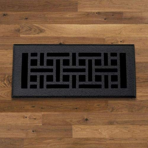 Magnus Home Products Geometric Cast Iron Floor Register, 4' x 10'