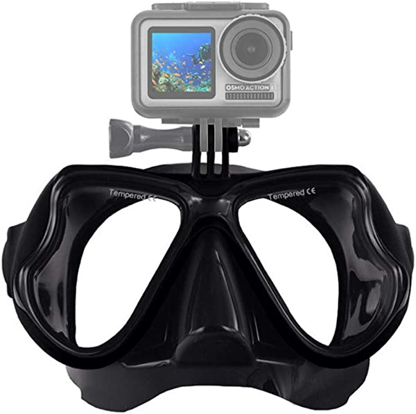 Blingdots Diving Glasses New Professional Underwater Camera Diving Mask Scuba Snorkel Swimming Goggles For DJI Osmo Action For GoPro Xiaomi For SJCAM Sport Camera