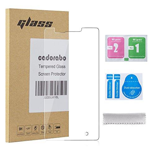 Cadorabo Panzer Folie kompatibel mit Nokia Lumia 950 - Schutzfolie in KRISTALL KLAR - Gehärtetes (Tempered) Bildschirm-Schutzglas in 9H Festigkeit mit 3D Touch Kompatibilität