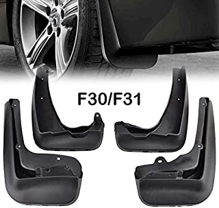 XUKEY Auto Molded Splash Guards for BMW 3 Series F30 F31 2012-2018 Mud Flaps - Front & Rear 4 Pieces Set