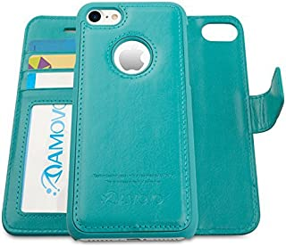 AMOVO Case for iPhone 7 [2 in 1], iPhone 7 Wallet Case [Detachable Wallet Folio] [Premium Vegan Leather] iPhone 8 Wallet Case with Gift Box Package (iPhone 7&8 (4.7
