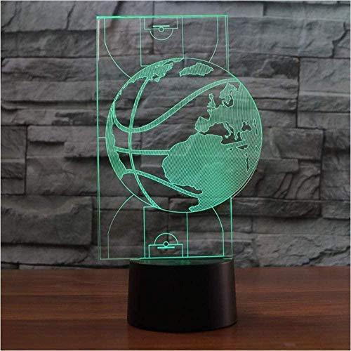YOUPING Luz de Noche 3D USB Cancha de Baloncesto Modelado 7 Color Cambio de la Tarjeta de la Lámpara de Mesa LED Luces de Sueño Niños Regalos de Navidad