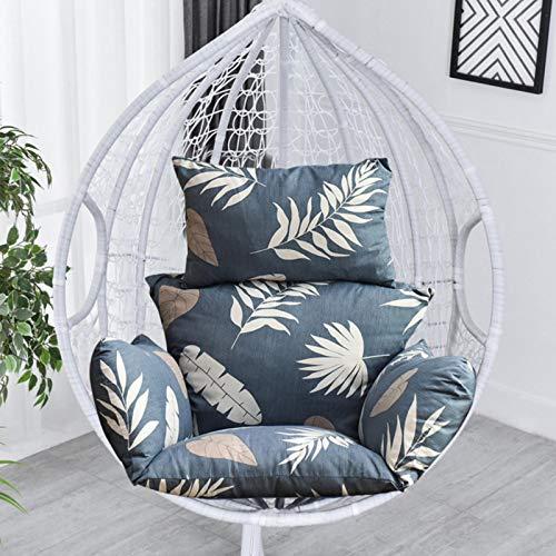 Cuscino da appendere per sedia a forma di uovo, cuscino per sedia a forma di uovo, per interni ed esterni, patio, giardino, solo cuscino