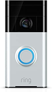 Ring Wi-Fi Enabled Video Doorbell in Satin Nickel, Works...