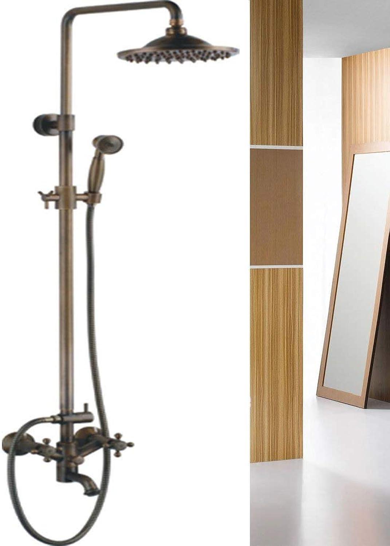 HSDDA Badezimmer-Niederschlag -Copper Lift DREI-Dusche-Dusche-Set heier gemischter Leitungswasser-Wasserbad-Drehgurt Duschkopf