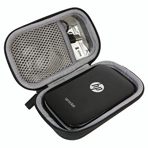Hard Travel Case for HP Sprocket Portable Photo Printer by co2CREA (Black)