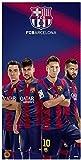 FCB Barcelona Soccer Team Beach Towel, Four Players