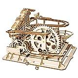 LIANG Montaña Rusa Rompecabezas de Madera, 3D Rompecabezas de Madera Modelo de Arte locomotor y Engranajes mecánicos-Mejores Juguetes para niños y Adultos,501
