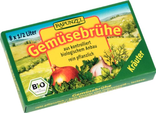 Rapunzel Gemüse-Brühwürfel mit Kräutern, 4er Pack (4 x 83 g) - Bio