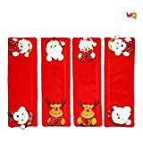 Christmas Decor Set,Refrigerator Door Handle Covers, Santa Claus, Snowman, and Elk Kitchen Appliance Covers. Refrigerator, Oven, Dishwasher, and Room Door Handle Cover Decoration (Handle Set)…