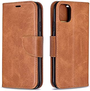 HUIXIANGJUAN Leather Case Compatible with iPhone 11 2019 Case, Retro Durable Solid Color PU Leather Magnetic Flip Wallet C...