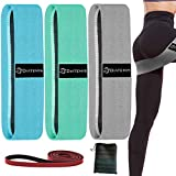 Diatemis Booty Bands, Set of 4, Resistance Bands for Legs and Butt, with Additional Exercise Band for Upper Body Stretching, Resistance Training, Anti Slip Workout Bands Set for Whole Body, Pack of 4
