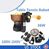 SD&ZC 36 Tennis Ball Machine Spins Ping Pong Ball Machine with Automatic Table Tennis Machine for Training