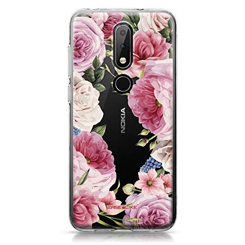 CASEiLIKE Nokia 6.1 Plus Hülle, Nokia 6.1 Plus TPU Schutzhülle Tasche Hülle Cover, Gemischte Rosen 2281, Kratzfest Weich Flexibel Silikon für Nokia 6.1 Plus