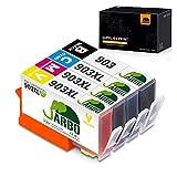 JARBO 903XL Pack 4 Cartouches Remanufacturéd Remplacer pour HP 903 903XL Cartouches d'encre, Compatible avec HP Officejet 6950,...