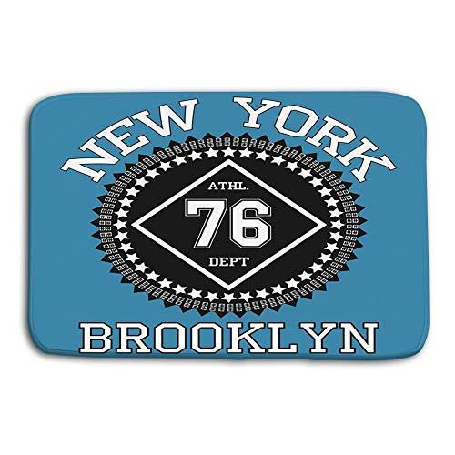 AoLismini Piso de la Cocina Baño Alfombrillas de Entrada Alfombra Nueva York Brooklyn Tipografía Moda Alfombrillas de baño Antideslizantes