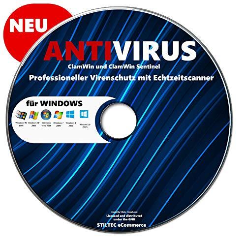 Antivirus Software Clamwin plus Clamwin Sentinel Antivirenscanner Sicherheitsprogramm