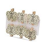 EKNA Clips de madera para colorear con rotulador para niños – Set de manualidades niña – Mariposa