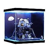 TONGJI Vitrina de Acrílico con Luces Compatible con Lego 10266 Ideas - NASA Apollo 11 Lunar Lander, Vitrina A Prueba De Polvo (Modelo No Incluido)