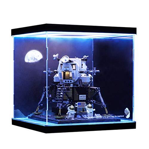 Seciie Display Case Acryl Schaukasten Display Box Schöne Vitrine für Lego Creator 10266 NASA Apollo 11 Moonlight Cabin