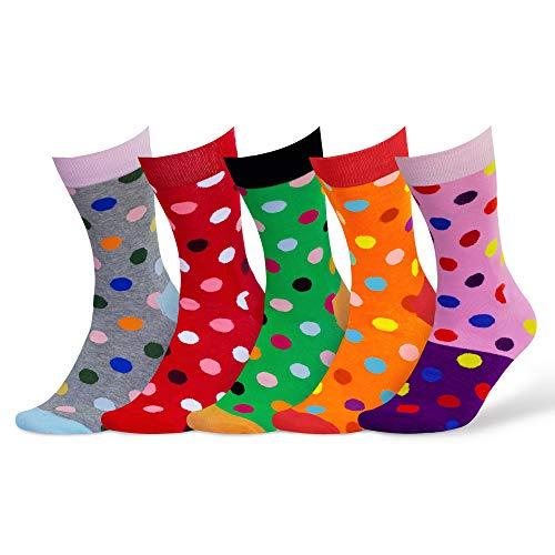 Damen und Herren bunte Socken (5 Paar) (1. Mix)
