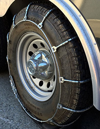 TireChain.com 225/70R19.5, 225/70 19.5 Truck SUV Cable Tire Chains Set of 2