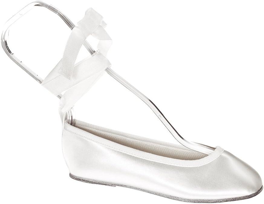 Touch Ups Girls' Gypsy Slip-on Shoes,White Satin,1.5 M
