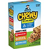 Quaker Chewy Lower Sugar Granola Bars, 3 Flavor Variety Pack (58 Pack)