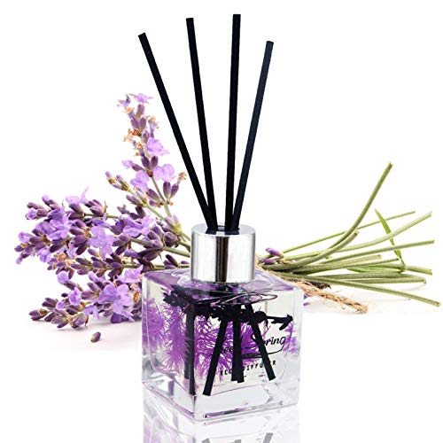 Seed Spring Reed Diffuser Set Lavender Aromatherapy Oil Effectively Improve Sleep Soothe Mood stabilize Nerves Home Decoration and Office Decoration Perfume and Gifts 1.7 oz(50 ml )