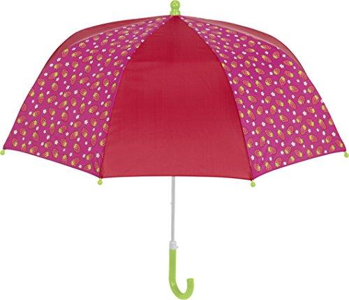 Playshoes Mädchen Erdbeeren Regenschirm, Rosa (Pink 18), One Size