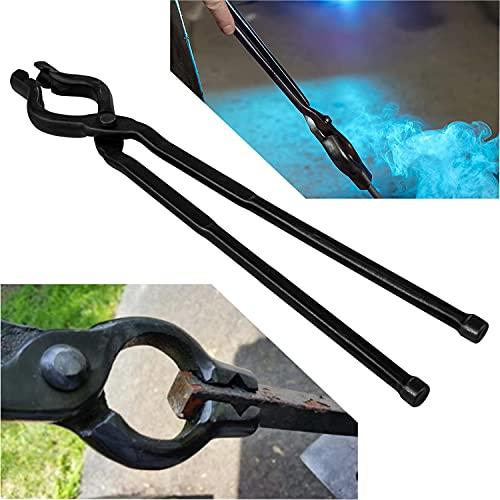 """Knife making Tongs Blacksmith Tongs 17"""" V-Bit Bolt Tongs"""