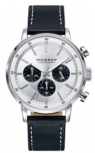 Viceroy Reloj Multiesfera para Hombre de Cuarzo con Correa en Cuero 471023-17