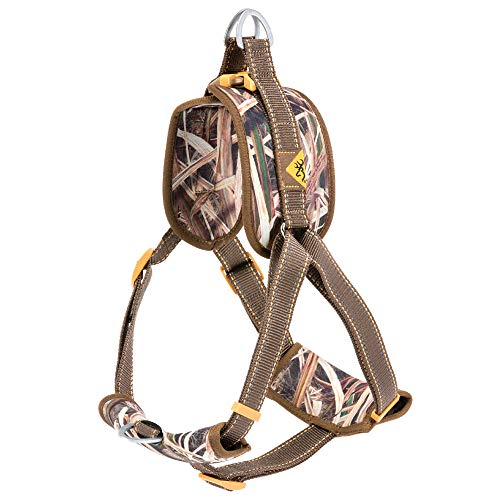 Browning Padded Dog Harness Hunting Dog Harness, Padded Straps, Camo, Shadow Grass Blades, Large