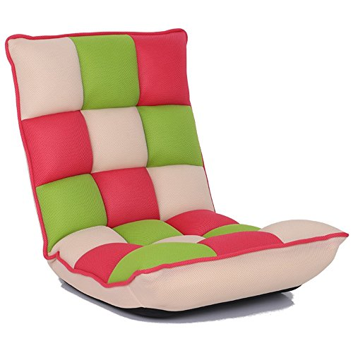 Lazy Chair Cómoda Silla Plegable Multi-posición Ajustable Sofa Chair Silla de Piso, Reloj TV, Gaming, Midday Rest, Nap (Color : C)