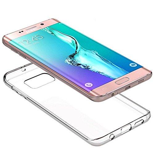 Roar Handy Hülle Transparent aus Silikon für Samsung Galaxy S7 Edge Handyhülle Ultra Slim, Dünn, Durchsichtig, Silikon Schutzhülle für Samsung Galaxy S7 Edge