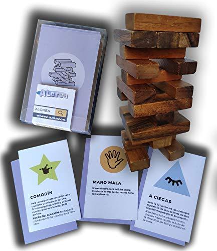 Encambio Alcrea EXPANSIÓN de Cartas para Torre de Bloques de Madera (Jenga™)....
