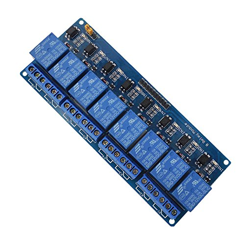 12V 8-Channel Relay Module,8-Channel 12V Relay Shield Module for Arduino UNO 2560 1280 ARM PIC AVR STM