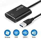 USB to HDMI Adapter, USB 3.0 to HDMI Adapter 1080P, RayCue Video Audio...