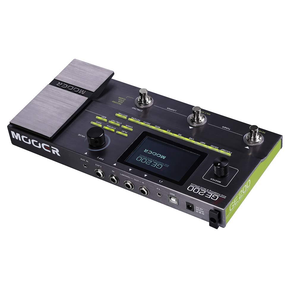 Bulufree MOOER GE200 Amp Modeling & Multi Effects Pedal 55 modelos de amplificadores 26 modelos de cabinas de altavoces 70 efectos 52s Looper 40 patrones de batería 10 metros Rhythms: Amazon.es: Instrumentos musicales