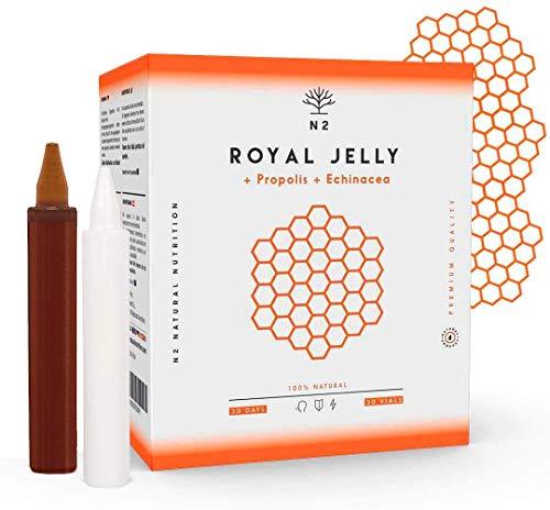 Pappa Reale Propoli, Echinacea e Vitamina C 2000 mg. Aumenta la Vitalità, Rafforza le difese, Riduce i Sintomi di Disagio e Fatica 30 Flaconcini sapore d'arancia N2...