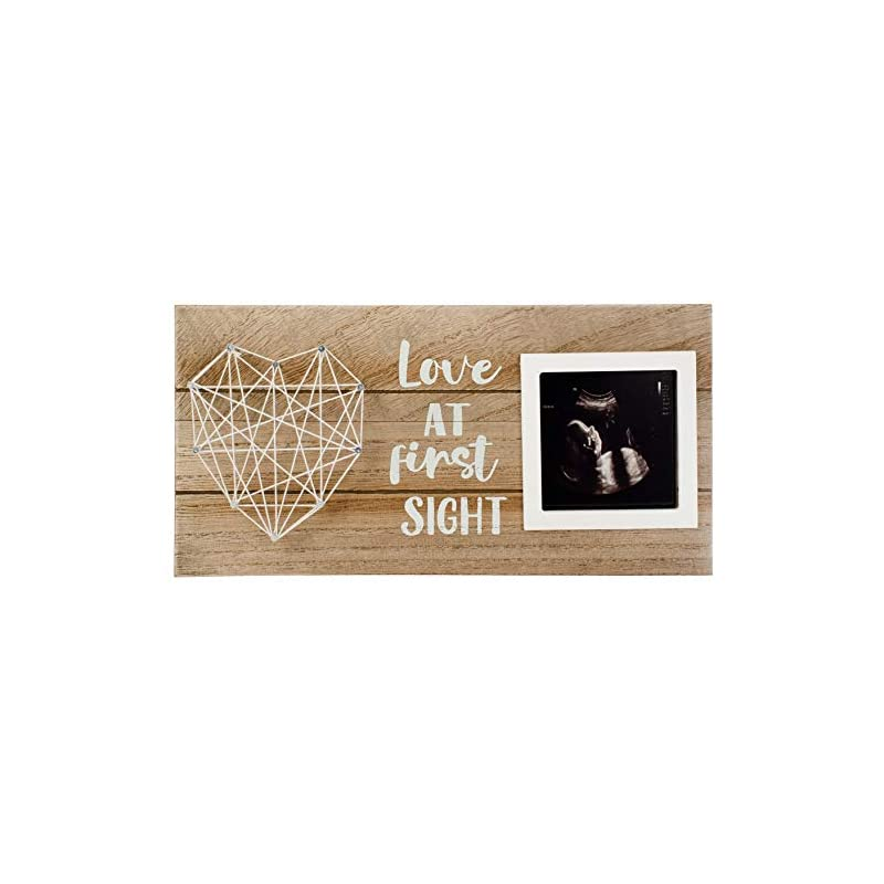 crib bedding and baby bedding sonogram picture frame   keepsake baby ultrasound frame   perfect gift for expecting parents   nursery décor   baby shower gift   love at first sight (12 x 6 inches)