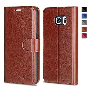 OCASE Samsung Galaxy S7 Case [ Card Slot ] [ Kickstand ] Leather Flip Wallet Case for Samsung Galaxy S7 - Brown