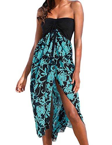 SEBOWEL Damen Leichtes Sommerkleid Strandkleider Sexy Casual Strand Kleider