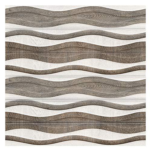 CAOXN Holztafeln Aufkleber Und Peel Tapete, Selbstklebendes 3D-Wanddielen-Kontaktpapier (70X70cm, 10 Stück)