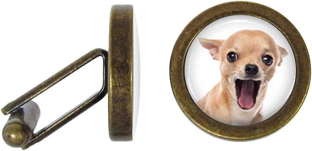 Oakmont Cufflinks Chihuahua Cufflinks Dog Cuff Links (Angled Edition)