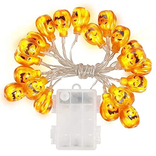 Halloween dynia sznur świateł 20 LED Halloween sznur świateł 3D dynia sznur światełek 3 m zasilane bateryjnie świecące lampki latarnia na zewnątrz wewnątrz Halloween dekoracje imprezowe